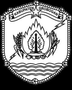 Logo Kabupaten Grobogan Hitam Putih